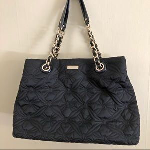 KATE SPADE black bow quilted bag